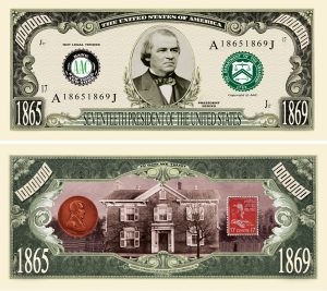 Andrew Johnson Million Dollar Bill