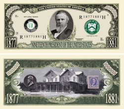 RUTHERFORD B. HAYES MILLION DOLLAR BILL