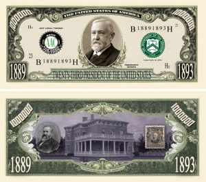 BENJAMIN HARRISON MILLION DOLLAR BILL