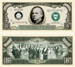Grover Cleveland 2nd Term Million Dollar Bill