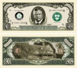 THEODORE ROOSEVELT MILLION DOLLAR BILL