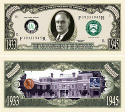 FRANKLIN D. ROOSEVELT MILLION DOLLAR BILL