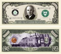 HARRY TRUMAN MILLION DOLLAR BILL