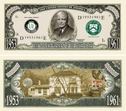 DWIGHT D. EISENHOWER MILLION DOLLAR BILL