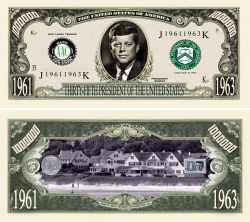 JOHN F. KENNEDY MILLION DOLLAR BILL