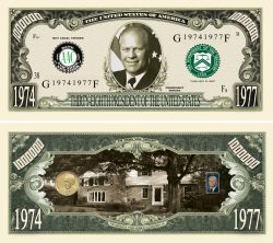 GERALD FORD MILLION DOLLAR BILL
