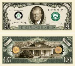 JIMMY CARTER MILLION DOLLAR BILL