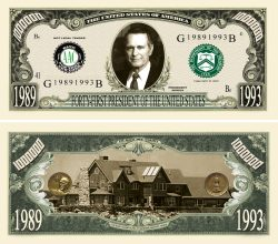 GEORGE HERBERT WALKER BUSH MILLION DOLLAR BILL