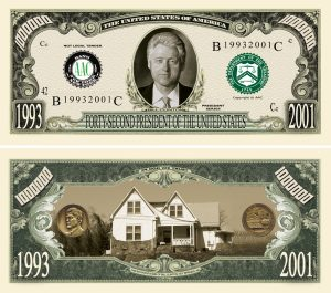 Bill Clinton Million Dollar Bill