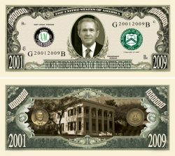 George W Bush Million Dollar Bill