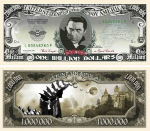 Dracula Million Dollar Bill