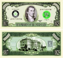 President James Monroe One Million Dollar Bill