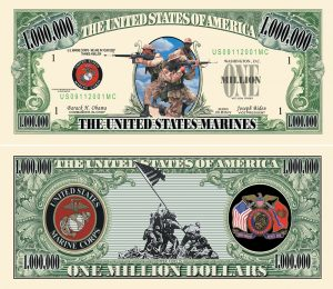 US Marines One Million Dollar Bill