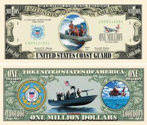 U.S Coast Guard Million Dollar Bill
