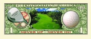 Golf One Million Dollar Bill