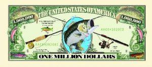 Fishing One Million Dollar Bill