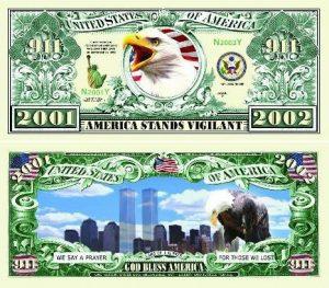 9/11 Anniversary WTC Memorial Commemorative Bill