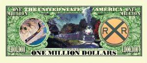 """The Iron Horse Train"" One Million Dollar Bill"