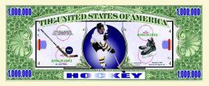 Hockey One Million Dollar Bill