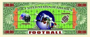 Football One Million Dollar Bill