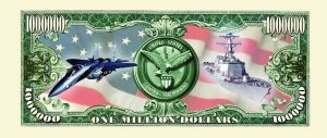 CENTCOM (CENTRAL COMMAND) One Million Dollar Bill