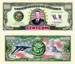 CENTCOM (CENTRAL COMMAND) One Million Dollar Bill