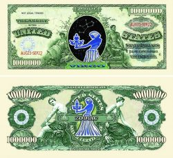 Virgo Zodiac One Million Dollar Bill