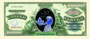 Virgo Zodiac One Million Dollar Bill