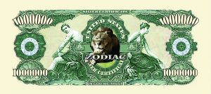 Leo Zodiac One Million Dollar Bill