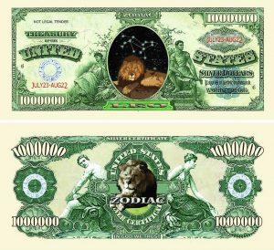 Leo Zodiac One Million Dollar Bill