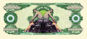 Gemini Zodiac One Million Dollar Bill