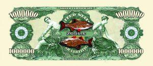 Pisces Zodiac One Million Dollar Bill