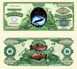 Pisces Zodiac One Million Dollar Bill