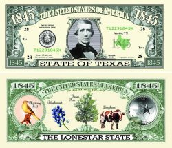 Texas State Novelty Bill