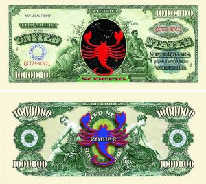 Scorpio Zodiac One Million Dollar Bill