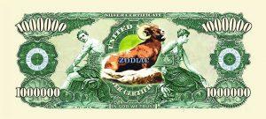 Aries Zodiac One Million Dollar Bill
