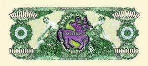 Sagittarius Zodiac One Million Dollar Bill