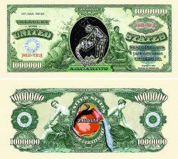 Aquarius Zodiac One Million Dollar Bill