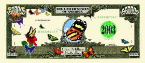 Butterfly One Million Dollar Bill