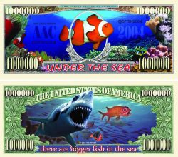 Under The Sea One Million Dollar Bill