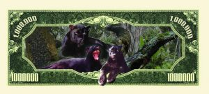 Black Panther Collectible One Million Dollar Bill