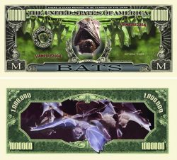 Halloween Bat One Million Dollar Bill