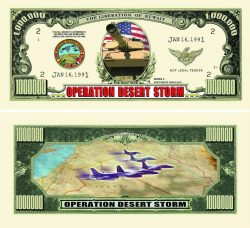 Operation Desert Storm One Million Dollar Bill