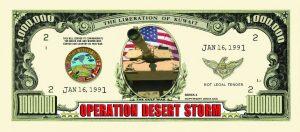 Operation Desert Storm One Million Dollar Bill