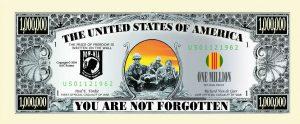 POW One Million Dollar Bill