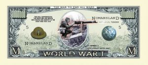 World War I COMMEMORATIVE MILLION DOLLAR BILL