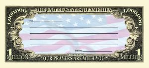 Support Our Troops One Million Dollar Bill