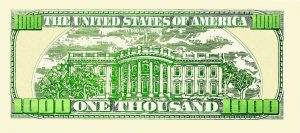 One Thousand Dollar Bill Casino and Poker Night Money