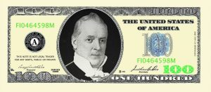 Fake One Hundred Dollar Bills for Casino and Poker Night Money