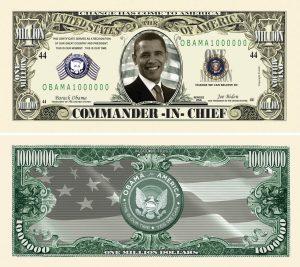 Barack Obama Million Dollar Novelty Bills